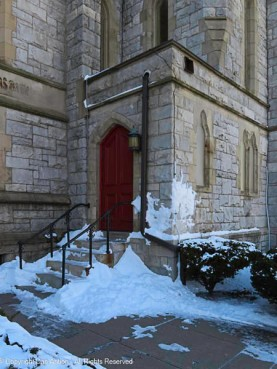 Side entrance to St. John's Episcopal Church