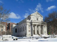This is my best photo of the Basilica of the Immaculate Conception. They were setting up for some construction activity in the area so I couldn't get a good look at the front unless I wanted to stand in deep snow.