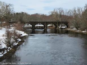 My favorite bridge in Connecticut. Over 150 years old, the stone arch railroad bridge over the Farmington River.