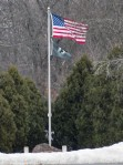 I know, the flag again, but I haven't seen it blowing this full for a long time.