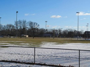The ball fields are almost bare again.