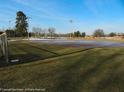 The infield was still a sheet of ice on Wednesday. I suspect it's melted by now.