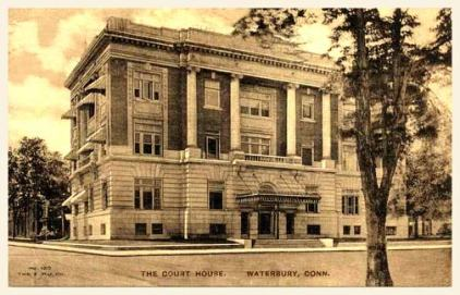 Postcard of the Court House built in the early 1900s. This is currently a Juvenile Court.