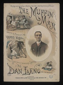 Sheet music for the Muffin Man song.
