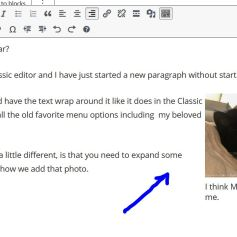 """By setting Right-Alignment and shrinking the image, I can have the text wrap around it, I started with the cursor next to the """"I can add"""" paragraph."""