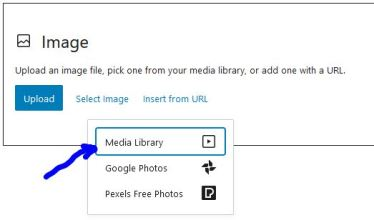Select from Media Library.