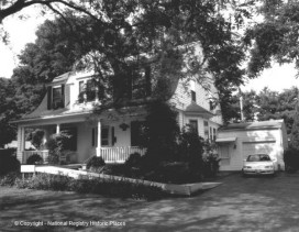 This is the Dutch Colonial Revival in 1998, with a few more bushes and an access ramp