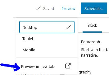 Choose the type of preview, (Mobile will show you what this will look like on a phone) and then generate the preview.