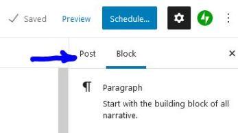 Click on Post to bring up the post attributes.