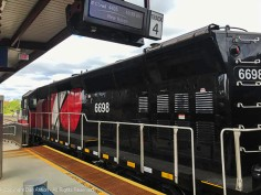 The CT Rail locomotive that pulled me to Springfield.