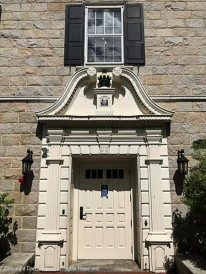 Main entrance to the building.