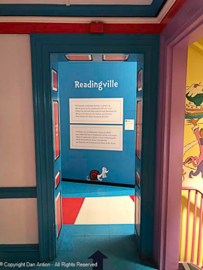 Children can read from Dr. Seuss's stories in here.