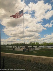 This flag is at the memorial in Springfield, MA along the Connecticut River.