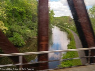 Crossing over the Windsor Locks Canal.