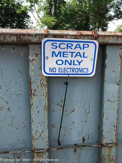 Our public works department runs a recycling operation. They accept scrap metal in bulk.