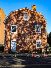 The side of the Amos Bull house.