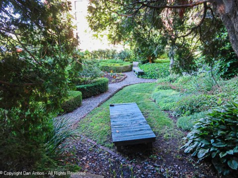 This part of the garden looks like a nice place to relax.