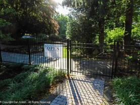 The gate into the garden