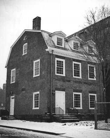 The Amos Bull house. restored to its original configuration.