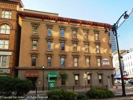 The facade along Trumbull Street.