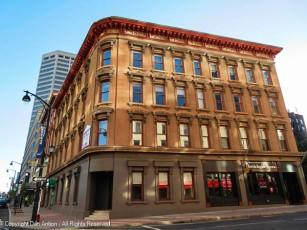This is the facade along Asylum Street.
