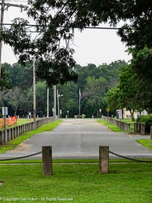 This is the view into Veterans Park from The Family Park across the street.