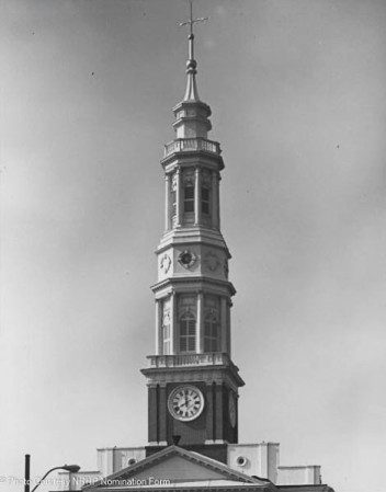 Enlargement showing steeple detail - 1976