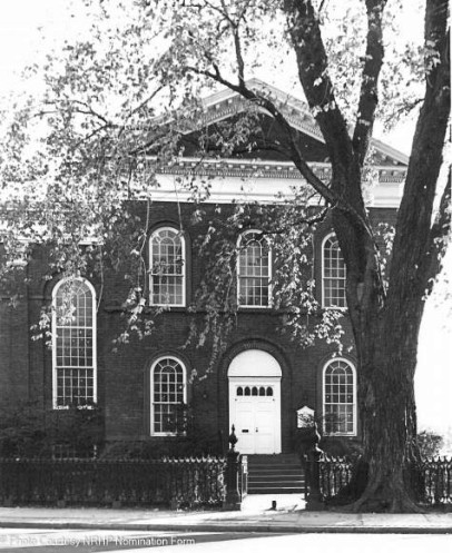 Buckingham St. (Lecture Room North Facade» view south - 1977