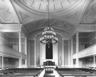 Interior view toward pulpit; view west - 1977