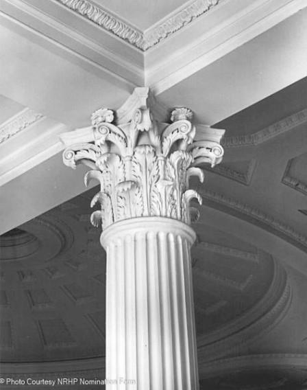 Detail of interior Corinthian Column and Capital - 1976