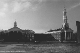 Church and Parish House, Main (east) elevation; view northwest - 1977