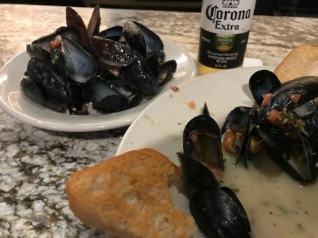 Mussels didn't last long