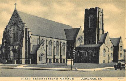 Old postcard for First Presbyterian Church