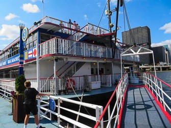 The bow of the Empress II. the biggest party boat in Pittsburgh.