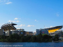 Heinz Field seen from the riverboat.