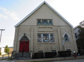 St. Paul AME Zion Church. Despite the ordinary building material, I think they built a wonderful little church.