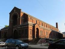 St. Joseph's Roman Catholic Church. The side door looks as big as the main door.