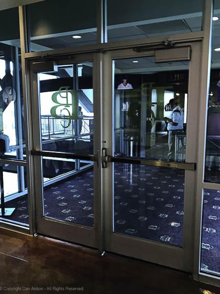Doors to the Pittsburgh Baseball Club.