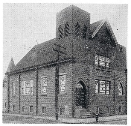 This is a historic image of the St Paul AME Zion Church. I can only guess that the roof failed and was replace sans bell tower.