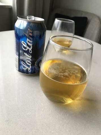 Lost Lake Pilsner - 3.2% alcohol. A little better than most light beers, but...