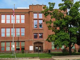Barnard-Brown School building - south entrance