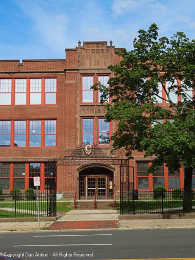 Barnard-Brown School building - main entrance