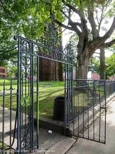 Keney Clock Tower Park - northeast entrance gate