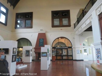 Inside the main entrance is some open exhibit space and the entrance to some of the individual museums