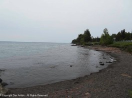 A little bit of beach on the north shore of Lake Superior