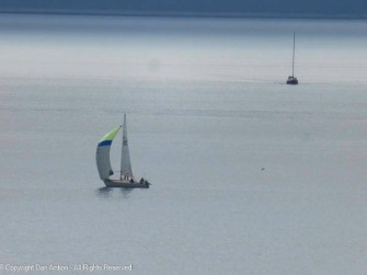 This guy had just unfurled the spinnaker (perhaps a normal jib)