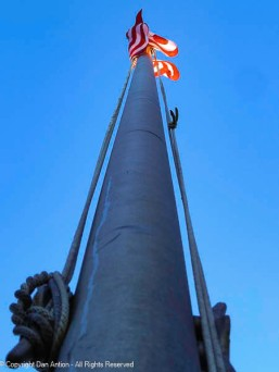 Up the flagpole