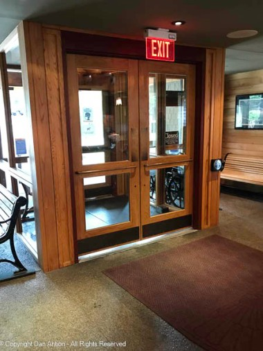 The inside entrance doors are much nicer looking