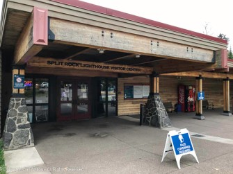 Main entrance of the visitor center
