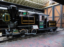 The Minnetonka. A wood burning locomotive was the first locomotive on the Northern Pacific Railway. It was manufactured by Smith & Porter of Pittsburgh, Pennsylvania.